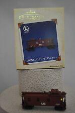 Hallmark  Lionel N0. 717 Caboose - Scale Train - Collector Series Ornament