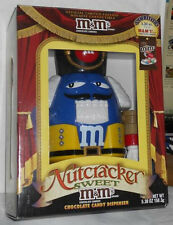 2011 M&M BLUE CHARACTER NUTCRACKER SWEET YELLOW PANTS HOLIDAY CANDY DISPENSER