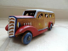 Vintage wooden animal bus