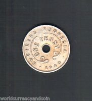 SOUTHERN RHODESIA 1 PENNY 1940 KING GEORGE VI SCARCE ZAMBIA COIN MONEY AFRICAN