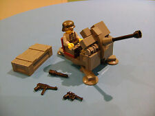LEGO LOT #15 CUSTOM WW2 WORLD WAR 2 GERMAN DARK BLUISH GRAY 2 CM FLAK 38 CANON