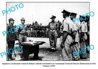 OLD 8x6 PHOTO, WWII JAPANESE SURRENDER PAPUA NEW GUINEA c1945