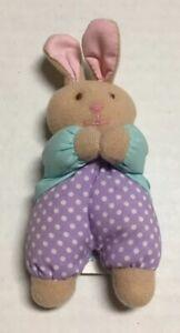 Vtg Eden Bunny Rabbit Plush Mini Stuffed Animal Toy Polka Dots Marc Brown 1998