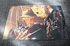 "Robert Englund & Ken Kirzinger SIGNED AUTOGRAFO ""Freddy Vs. Jason"" immagine inperson"