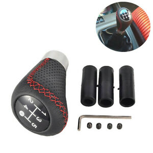 Gear Shift Knob 5 Speed Fit for Car Accessories Manual Shifter Ball Black/Red