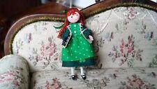 """Miniature Dollhouse Artisan Elaine Bohensky 1:24 1/2"""" Scale School Girl Doll"""