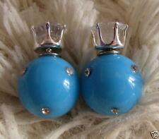 Orecchini di bigiotteria blu con strass