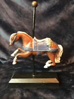 Vintage 1983 Painted Cast Iron Carousel Horse- signed by artist E.A. Stabile