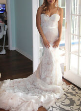 Inbal Dror inspired Custom made Wedding Dress nude pink with Ivory lace
