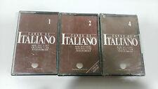 ITALIANO 1-2-4 CURSO DE IDIOMAS PLANETA AGOSTINI 3 X CINTA TAPE CASSETTE