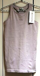ATHLETA Renew Racerback Stripe Diamond Soft Lilac M 8/10 New Retail $49