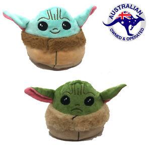 Starwars The Mandalorian Baby Yoda Double Sided Reversible Flip Happy Sad Plush