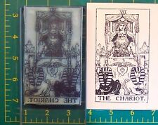 UM Tarot Card rubber stamp #7 The Chariot full size