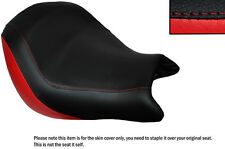 BRIGHT RED & BLACK CUSTOM FITS HONDA VTX 1800 02-04 FRONT LEATHER SEAT COVER