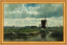 Polder landscape with windmill near Abcoude Willem Roelofs Mühle B A3 03455