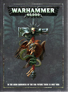 Warhammer 40k Rule Book. Full size Hardback edition. Games Workshop. A1 Cond.
