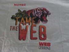 Vintage NOVELL Tame Web Lesson SHIRT Adult Sz XL Trade Show Premium Technology