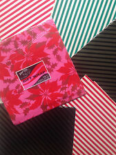 Vintage Gift Wrap Paper 7 Sheets Christmas Holiday Gift Wrap Dims: ~1.5' x 2.5'