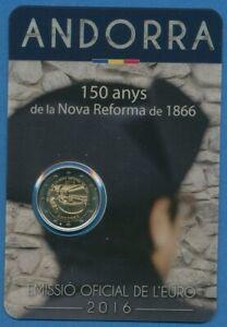Andorra 2 Euro 2016 150 Jahre Neue Reform, Original-Blister, st (m1976)
