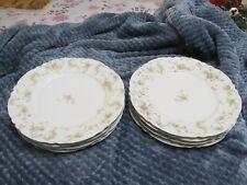 """4 Haviland Limoges """"The Princess"""" Dinner Plates - 9-3/4"""" - Schleiger 57C"""