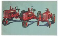 FARMALL TRACTOR ca1940's LINEN AD Postcard INTERNATIONAL HARVESTER Charlotte NC