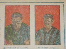 ***CAGNONI - CITTERIO (ATALANTA)*** DUE FIGURINE ED. SUBALPINO 1947 !!!