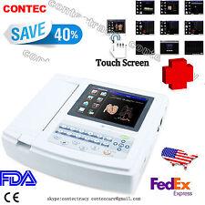 US seller FDA Digital 12 Channel 12 Lead ECG/EKG Machine,touch screen,SW,Printer