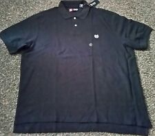 ! NWT MSRP $39 Mens CHAPS Polo Solid Black All Cotton Short Sleeve Shirt 2XL XXL