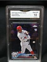 2018 Topps Chrome Update Victor Robles Rookie Card #HMT22 Gem Mint 10