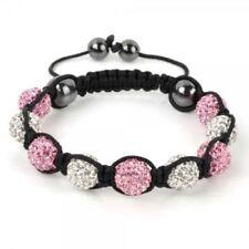 Modeschmuck-Armbänder im Shamballa-Stil mit Kristall-Perlen