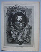 Originaldrucke (1800-1899) mit Porträt & Persönlichkeiten und Holzschnitt