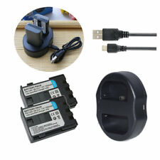 2XBattery +DUAL USB Charger for CANON NB-2LH EOS 400D 350D G7 G9 S50 S60 S70 S80
