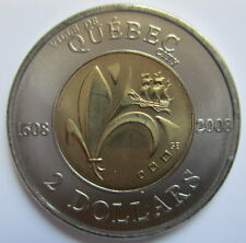 2008 CANADA 400th ANNIVERSARY OF QUEBEC CITY TOONIE UNCIRCULATED TWO DOLLAR COIN