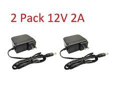 2 Pack 12V 2000mA 12 Volt DC 2 Amp Surveillance Camera Power Supply For Lorex