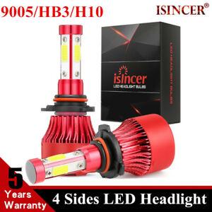 4-Side 9005/HB3/H10/9145 LED Headlight Kits High Power Bulbs 6000K 120W 32000LM