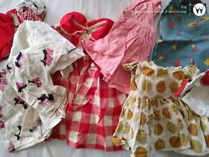 Vintage Doll Dress Lot Clothes Composition Hard Plastic Baby Doll Large Lot !