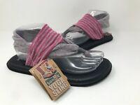 New! Women's Sanuk 86185 Yoga Sling 2 Slingback Sandals - Gray/Pink Q58