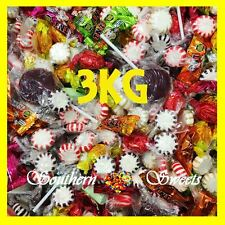3KG BULK MIXED WRAPPED LOLLIES PINATA MIX VARIETY OF LOLLIES & LOLLIPOPS