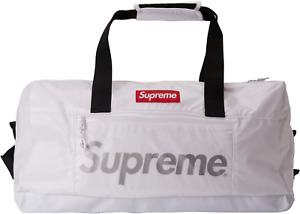 SUPREME FW17 WHITE SILVER DUFFLE BAG BRAND NEW