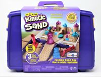 Kinetic Sand Folding Sand Box 3 lbs Sand + Toy Molds - Sensory Art Toys R Us NEW