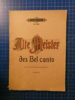Edition Peters No.3481 Alte Meister des Bel canto H10274