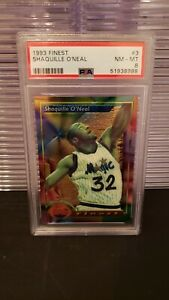 1993 TOPPS FINEST SHAQUILLE O'NEAL PSA 8 NM-MT ORLANDO MAGIC