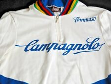 Vtg Campagnolo Tommaso Cycling Bike Jersey Shirt Sz 1 SMALL S Italy Biker