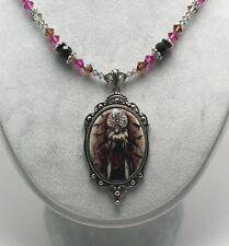 Jessica Galbreth Cameo Choker Necklace Dark Queen Fairy Goth Pendant Witch Wicca