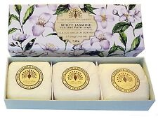 The English Soap Company 3x100g Hand Soaps White Jasmine & Sandalwood Gift Boxed