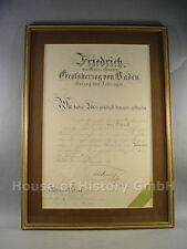 91372, Urkunde zum GROßKREUZ des Zäkringer Löwen, Staatsminister Frhr von Starck
