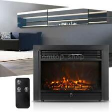1500W Adjustable Heater Electric Embedded Fire place Elegant Remote Control J6T0