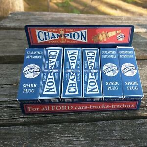 CHAMPION SPARK PLUG ADVERTISING DISPLAY CASE,STAND,VINTAGE REPRODUCTION