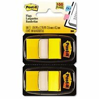 Post-it Flags Value Pack, Yellow, 1 In Wide, 50/dispenser, 12 Dispensers/pack -