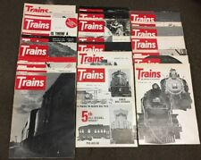 Lot Of 25 Back Issues Of Trains The Magazine Of Railroading